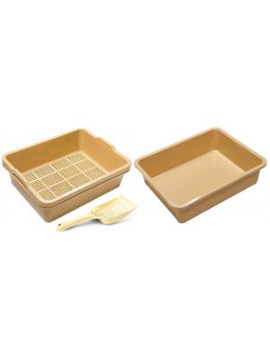 2 Piece Sieve Tray Set Plus Extra Base Plus Scoop