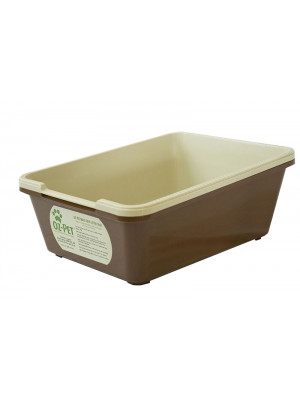 Jumbo-Maxi Tray Set - Beige/Brown 2 piece