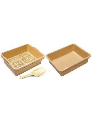 2 Piece Sieve Tray Set Plus Extra Base Plus Scoop