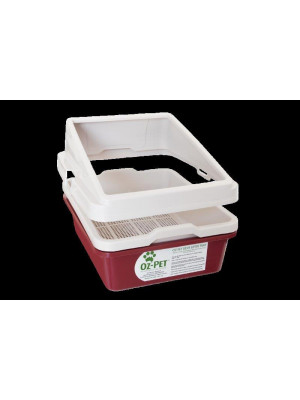 2 Piece Sieve Tray Set + Tray Guard (Includes postage)-Maroon/Surfmist